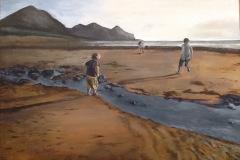 Children-on-the-Beach-painting-emily-dewsnap-art