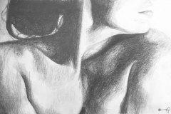 Cold-Shoulder-pencil-drawing-emily-dewsnap-art