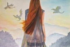 Dragon-Pike-dragon-painting-original-painting-emily-dewsnap
