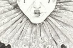 Elizabethan-Clown-pencil-drawing-emily-dewsnap-art