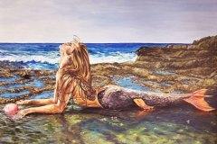 Galenes-Kiss-mermaid-painting-emily-dewsnap-art