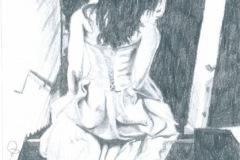 Girl-Running-pencil-drawing-emily-dewsnap-art