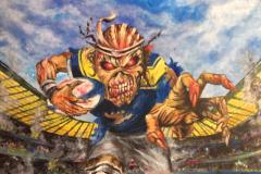 Iron-Maiden-Leeds-Rhinos-Commission-painting-emily-dewsnap-art