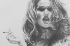 La-Diva-de-Nicotina-pencil-drawing-emily-dewsnap-art