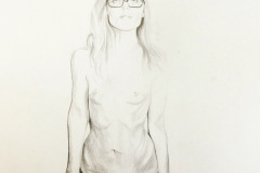 Men-Rarely-Make-Passes-at-Girls-Who-Wear-Glasses-pencil-drawing-emily-dewsnap-art