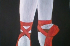 Red-Ballet-Shoes-painting-emily-dewsnap-art