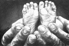 Tiny-feet-pencil-drawing-vemily-dewsnap-art