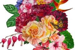 Tropical-flowers-painting-emily-dewsnap-art
