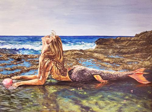 galenes-kiss-mermaid-painting-goddess-of-the-calm-seas-emily-dewsnap-art-blog
