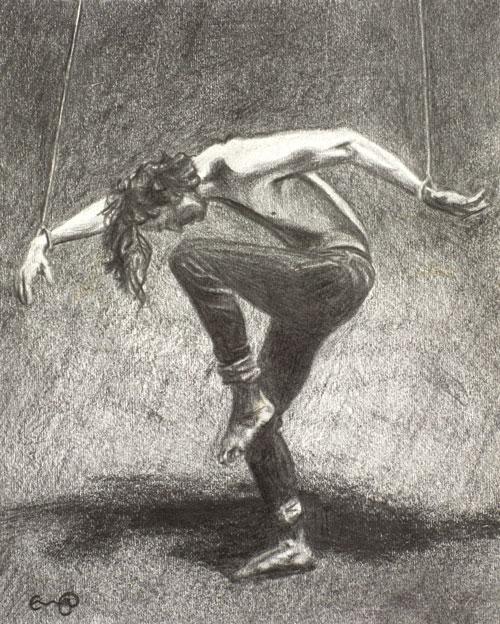 fernal-files-man-in-bondage-pencil-drawing