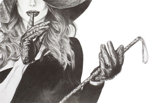 shush-pencil-drawing-emily-dewsnap