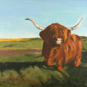 highland-coo-landscape-painting