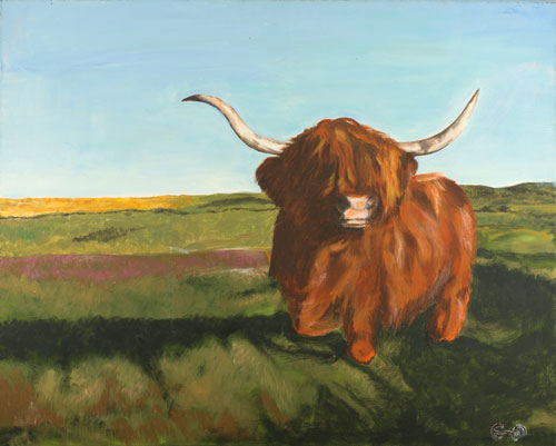 highland-coo-landscape-painting