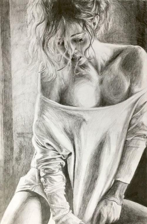 duvet-day-erotic-pencil-drawing-emily-dewsnap