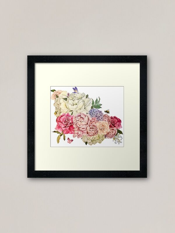 bouquet-of-flowers-framed