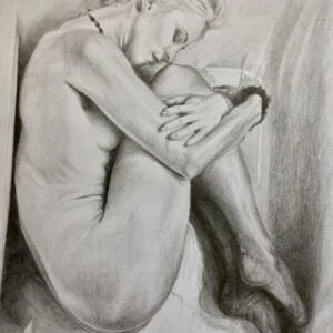 Phoetal-fetal-position-pencil-drawing-emily-dewsnap