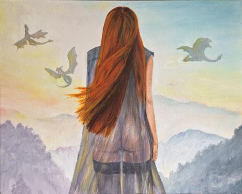 dragon-pike-dragon-painting-original-art-emily-dewsnap