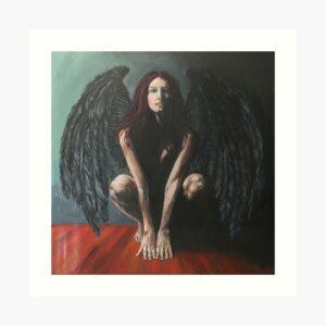 bringer-of-light-devil-painting-original-gothic-art-emily-dewsnap