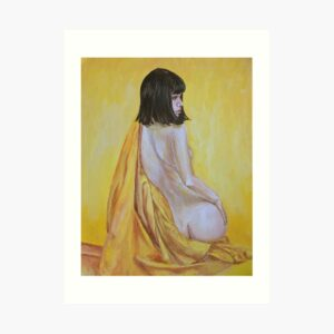 all-yellow-girl-in-yellow-silk-art-download-yorkshire-emily-dewsnap