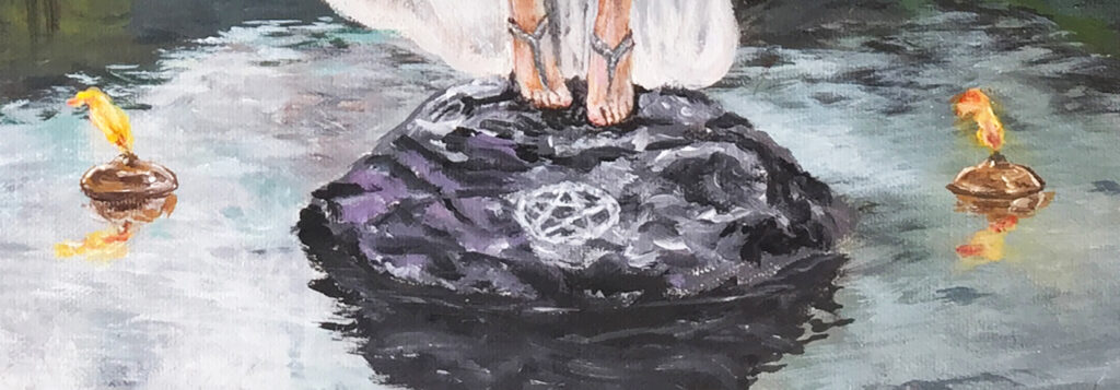 summoning-spell-witch-painting-detail-oil-lamps-emily-dewsnap-art-yorkshire