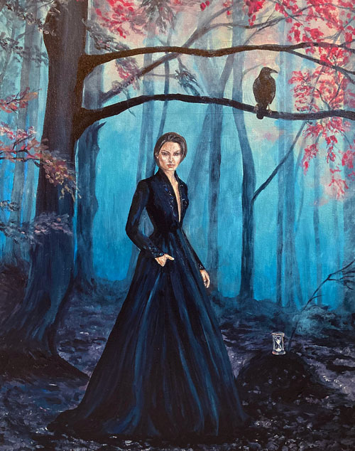 precious-time-hourglass-painting-raven-emily-Dewsnap