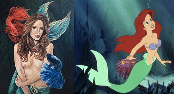 disney-ariel-fighter-mermaid-art-emily-dewsnap