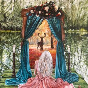 portal-spirit-animal-painting-emily-dewsnap-leeds