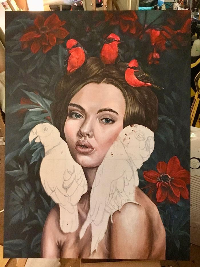 joy-unfinished-parrots-imaginative-realism-emily-dewsnap-art