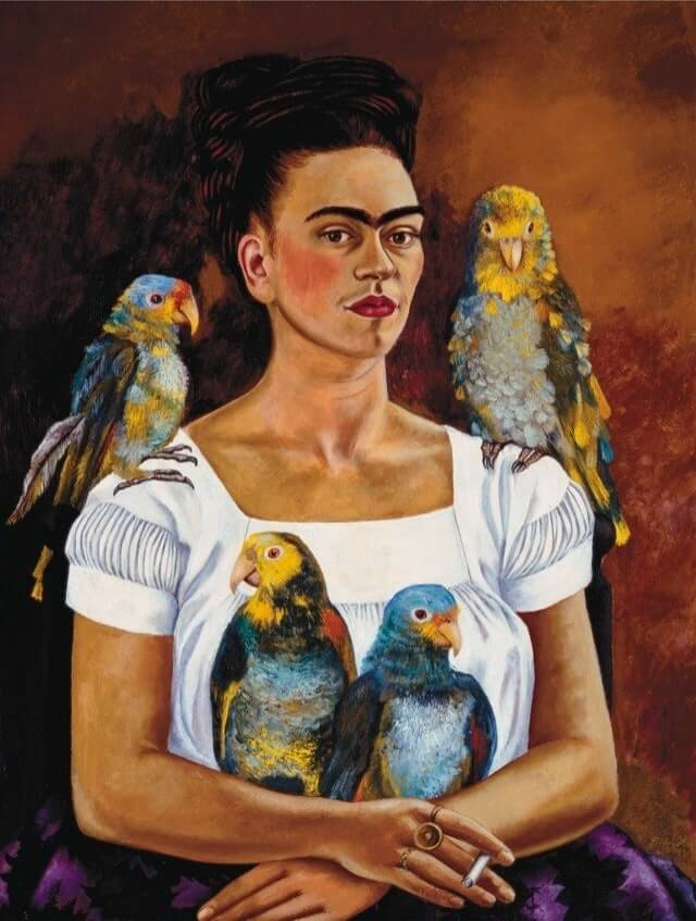 me-and-my-parrots-frida-kahlo-imaginative-realism-emily-dewsnap-art
